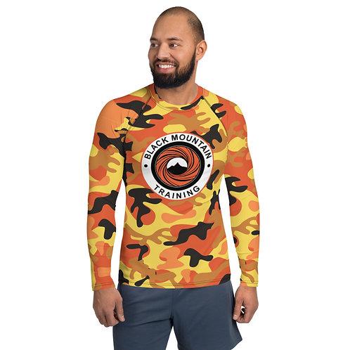 BMT Men's Rash Guard - Orange Camo