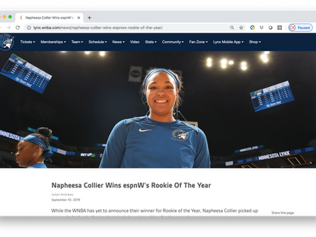 Napheesa Collier Wins espnW's Rookie Of The Year