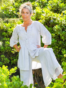 Ellen Tunic silver over Pearl Pant silver