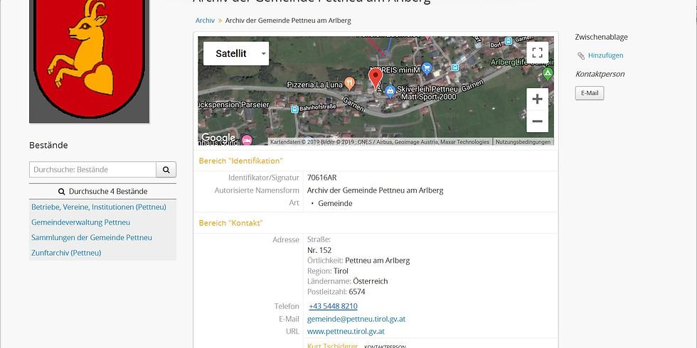 TiGa - das Archivinformationssystem für Gemeinden Tirols