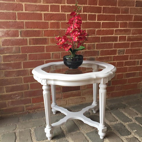 Elegant Glass Occasional Table
