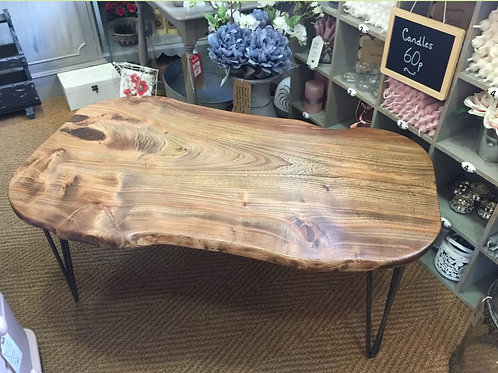 Solid Waney Edge Ash Coffee Table