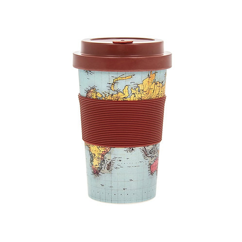 World Traveller Bamboo Travel Mug