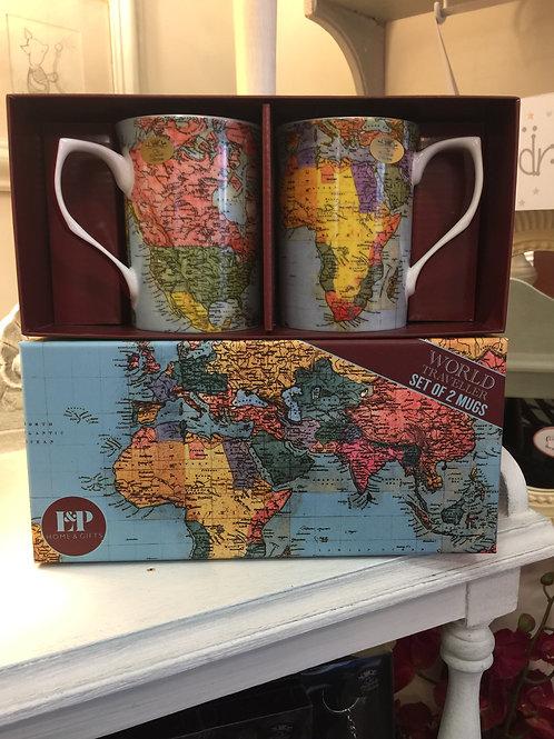 World Traveller Mugs Gift Set