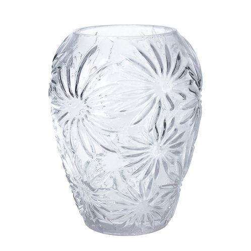 Clear Glass Daisy Vase