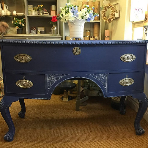 Hand Painted Napoleonic Blue Antique Console/Dressing table