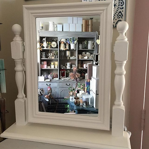 Old White Dressing Table Mirror