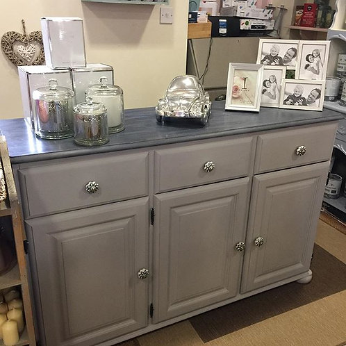 Hand Painted Sideboard with Ceramic Knobs