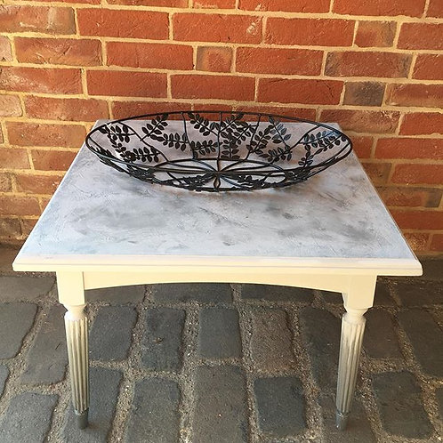 Square Rough Luxe and Ombre Coffee Table