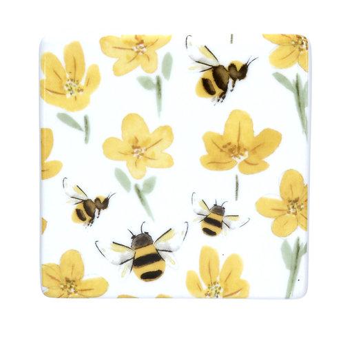 Buttercup & Bee Ceramic Coaster