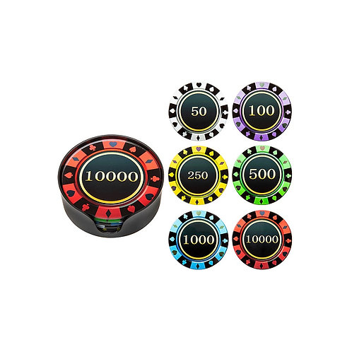 Gambling Chips Coaster Set