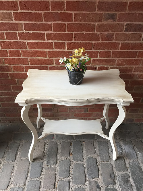 White Shabby Chic Console Table