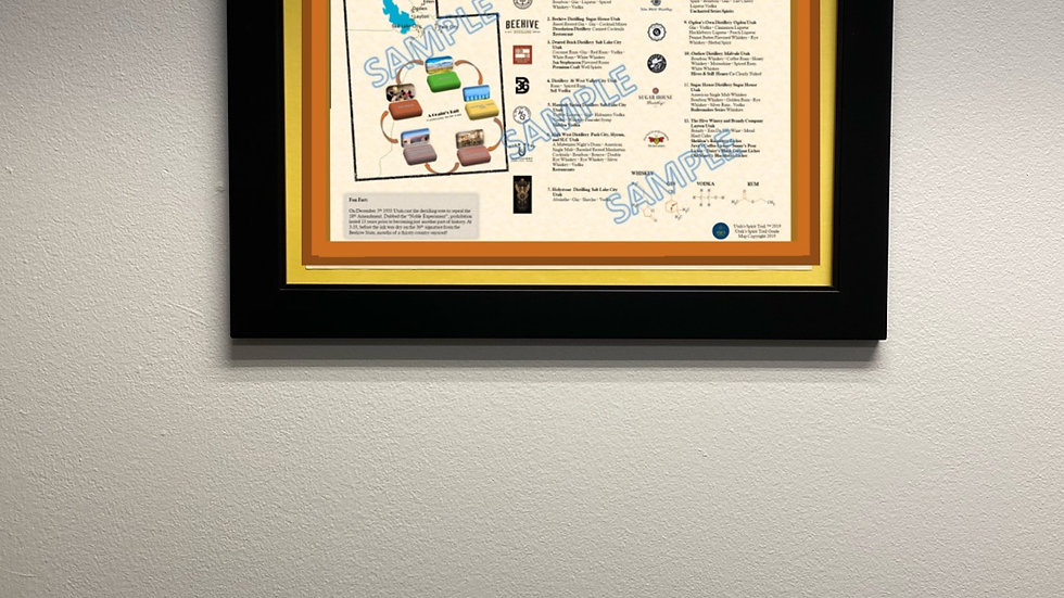 "Utah's Spirit Trail 11.5"" X 17"" Framed Poster"