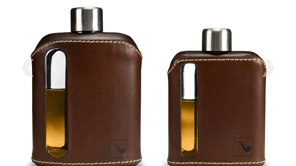 Ragproper Leather Rapped Glass Flask Gift Set