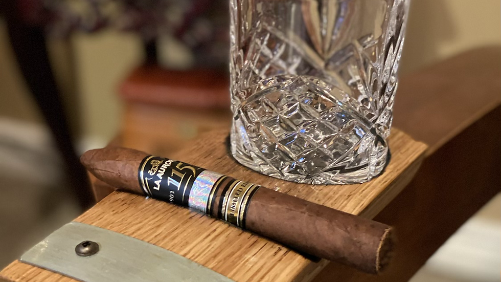 Rocks Glass and Cigar Coaster
