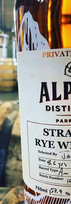 Alpine Straight Rye Whiskey