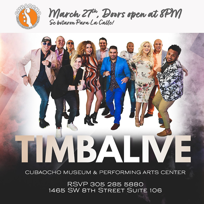 Timbalive, one night only!