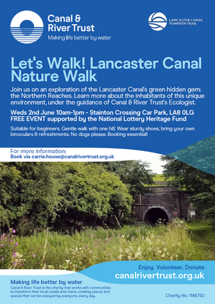 Join us on a Lancaster Canal Nature Walk