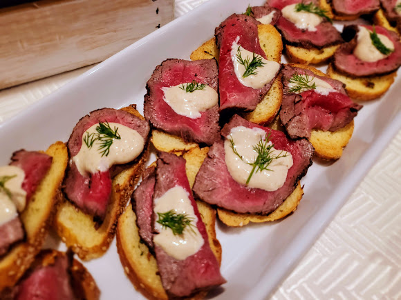 Filet Mignon Crostini