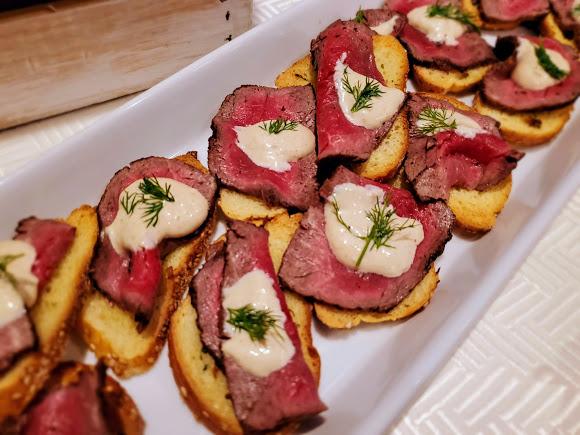 Filet Mignon Crostini