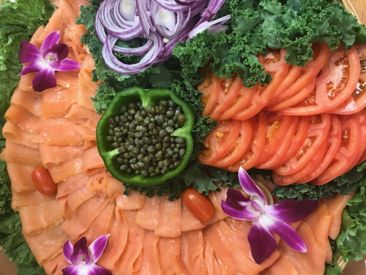 Sliced Lox Platter
