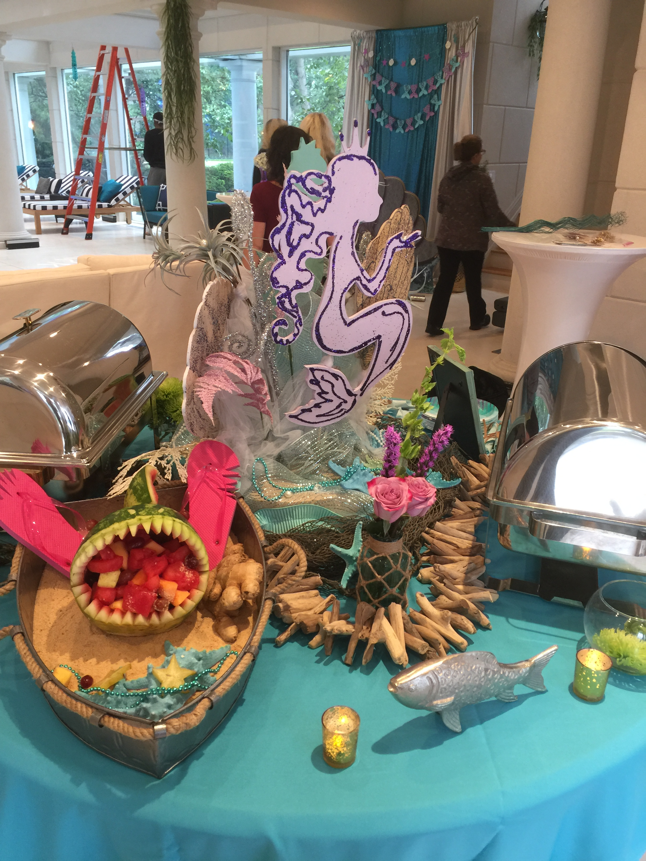 Under the Sea themed decor