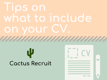 Tips on what to include on your CV.