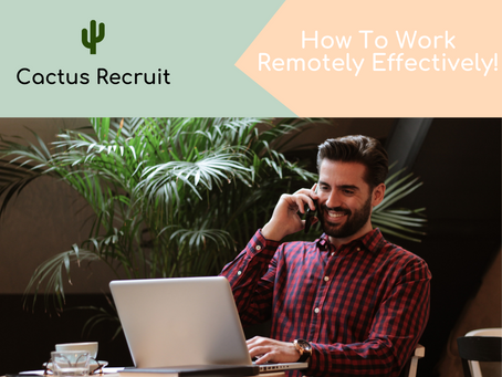 Tips On How To Work Remotely Effectively