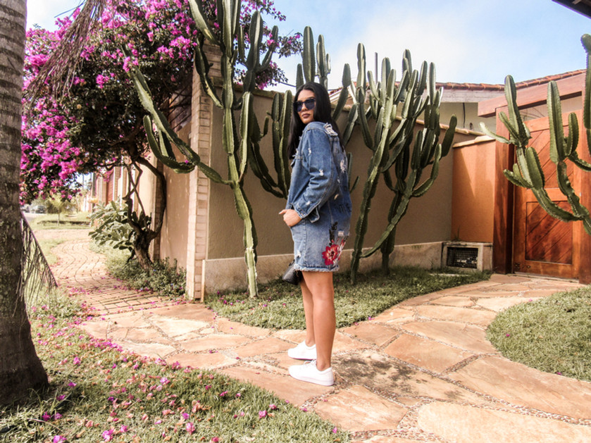 Look do dia: Jaqueta Oversized como vestido