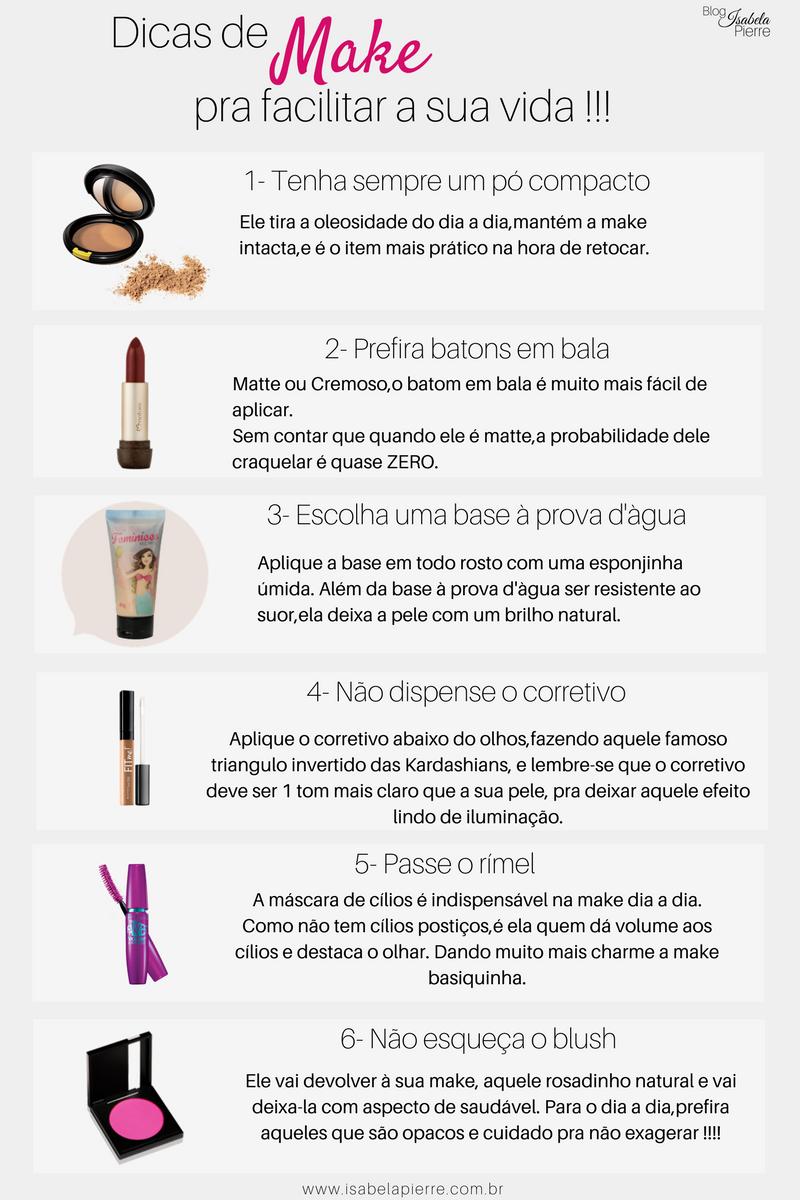 6 dicas de maquiagem pra facilitar a sua vida !!!