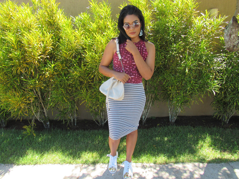 Look do dia - Mix de estampas