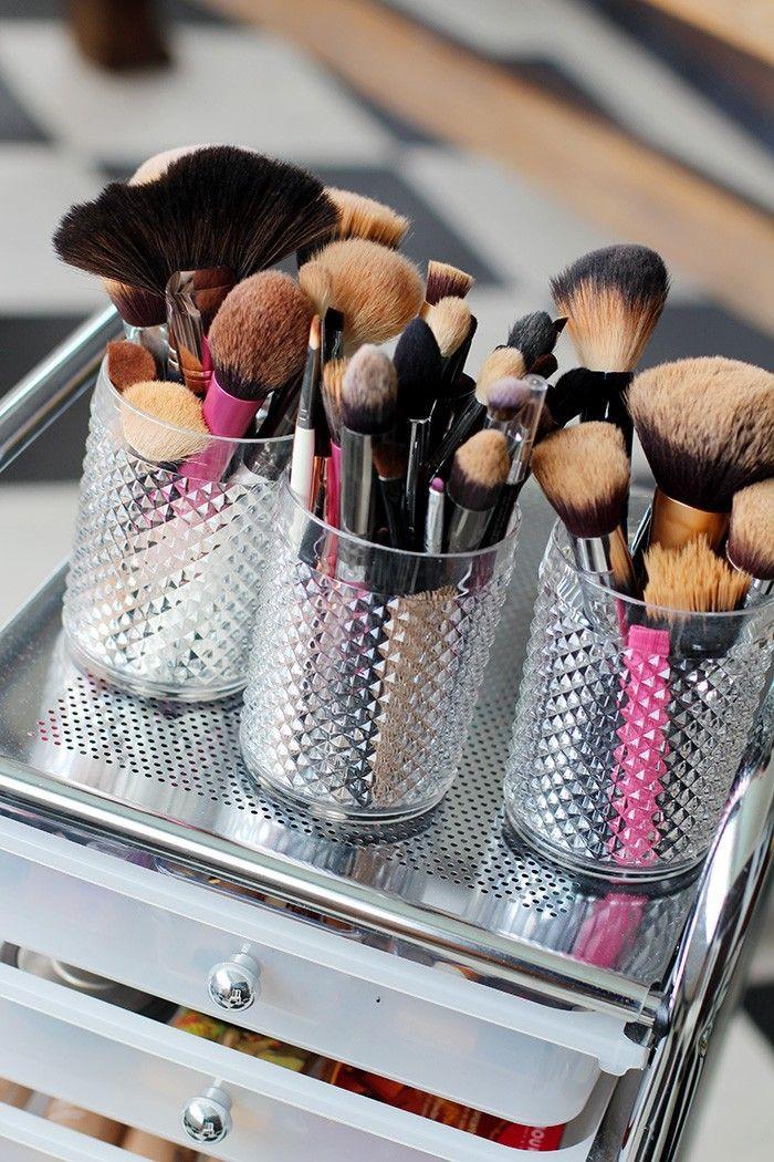 Organização de maquiagens sem gastar muito $$