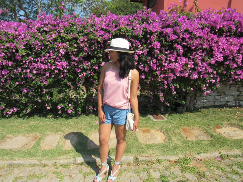 Look do dia: shorts, chapéu e sol !!!