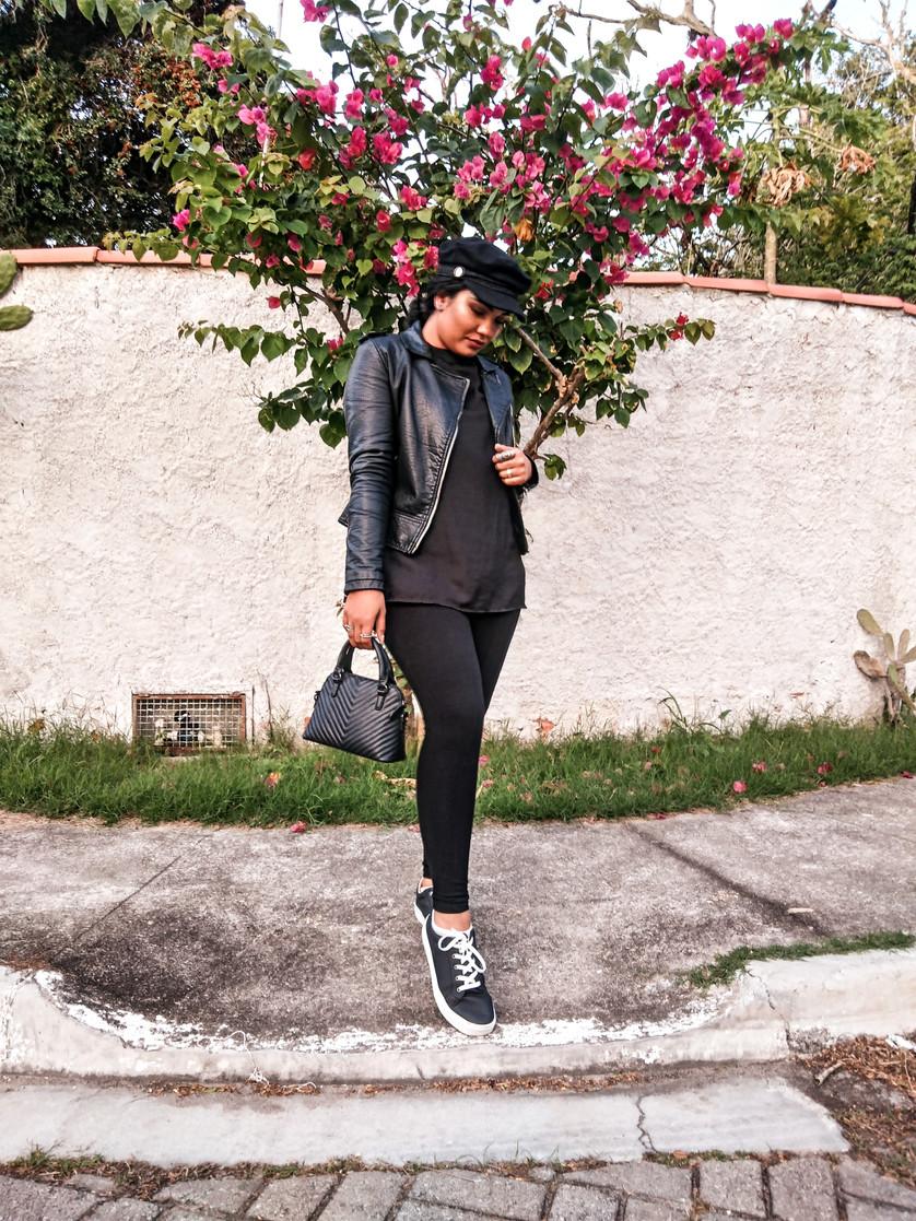Look do dia - All Black com boina