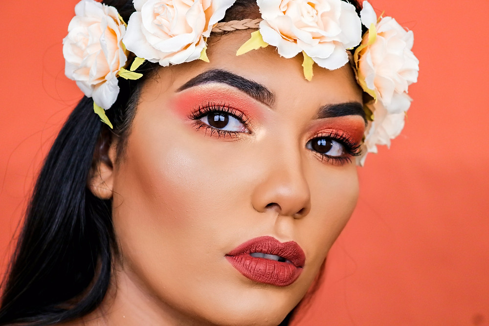 Living Coral Makeup Isabela Pierre