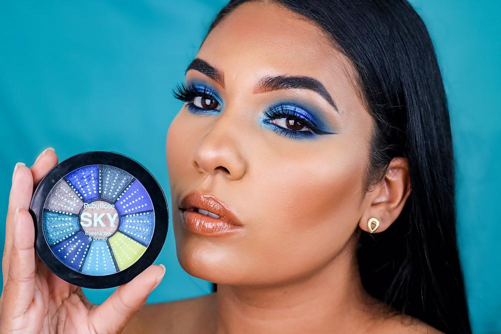 Maquiagem Azul com Ruby Rose Blog Isabela Pierre