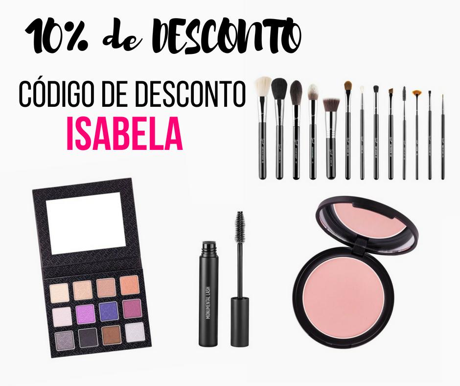 Cupom de 10% de desconto na Sigma Beauty - Isabela Pierre