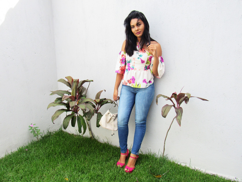 Look do dia: Floral e Jeans