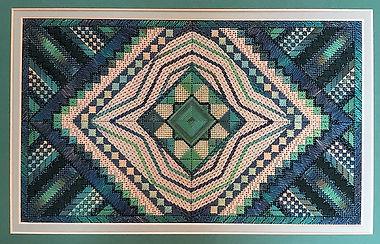 205-Kathy Rees-Merlot Maze 2nd colorway.