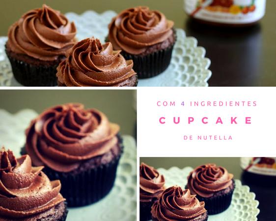 RECEITAS:Cupcake de nutella com 4 ingredientes!