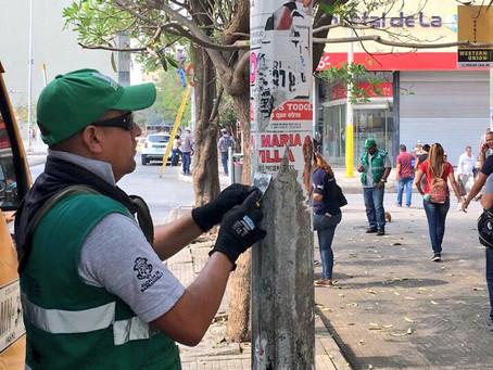 Después de jornada electoral, en Barranquilla retiran publicidad política