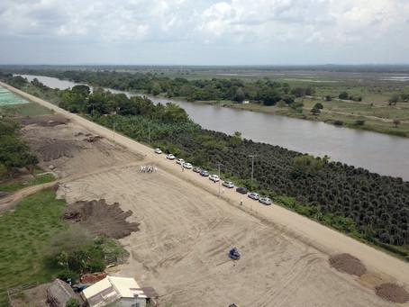 34 kilómetros de terraplén se construyeron en el Canal del Dique