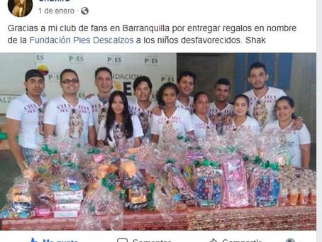Un fan ansioso por la llegada de Shakira a Barranquilla