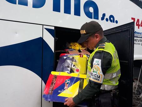 Decomisaron 30 mil camisetas falsas de la Selección Colombia en el Cesar
