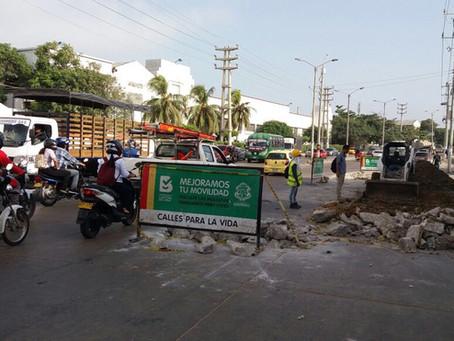 Este martes, Barranquilla tendrá cierres de vías en tres puntos de la ciudad