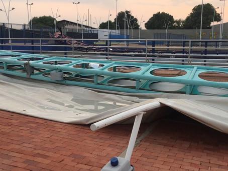 Fuerte aguacero provoca el desplome de la cubierta del complejo de tenis de Valledupar