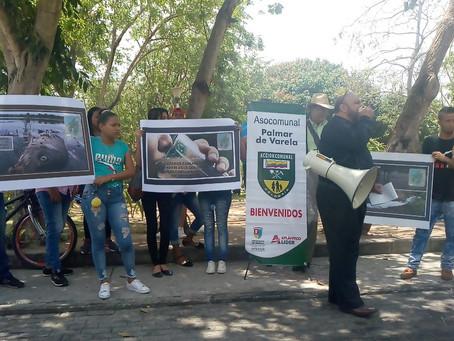 Protesta contra el fracking en Barranquilla exige la renuncia del ministro de Ambiente