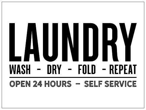 Laundry; Signature Sign