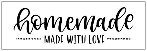 Homemade Made with Love; Plank Sign