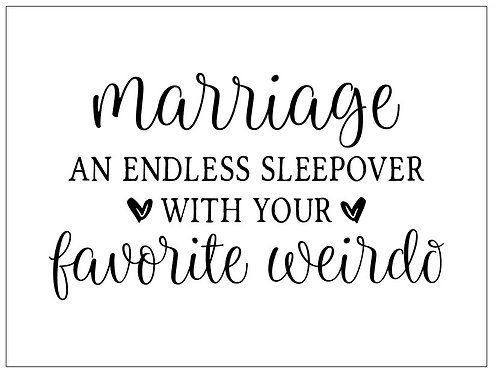 Marriage: Endless Sleepover; Signature Sign